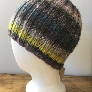 Hand knit Noro wool beanie toque hat adult